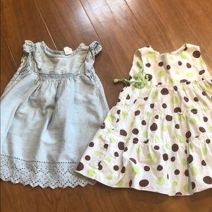 2 baby girl dresses